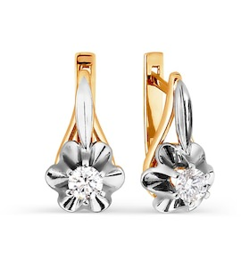 Серьги с бриллиантами Т131026382