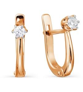 Серьги с бриллиантами Т131027727-3