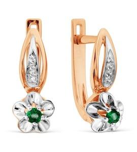 Серьги с изумрудами и бриллиантами Т131029316_2