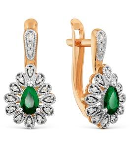 Серьги с изумрудами и бриллиантами Т131029596_3