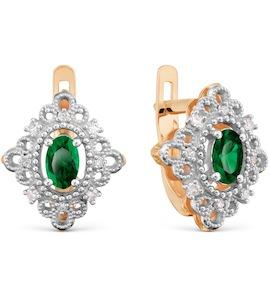 Серьги с изумрудами и бриллиантами Т131029598_3