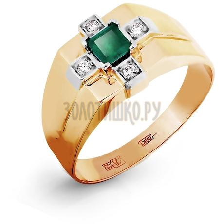 Кольцо с изумрудом и бриллиантами Т131045226_3