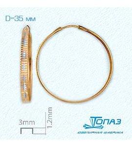 Серьги конго из красного золота Т140621575