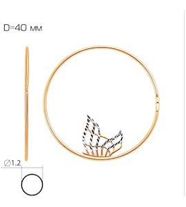Серьги конго из красного золота Т140622359