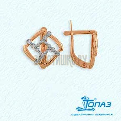 Серьги из красного золота Т140623226