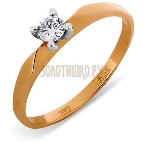 Кольцо с бриллиантом Т141011321-4