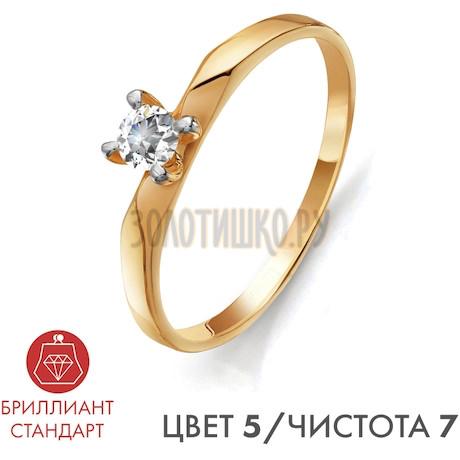 Кольцо с бриллиантом Т141011321-5