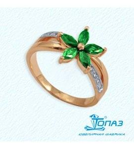 Кольцо с изумрудами и бриллиантами Т141011335_3