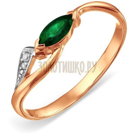 Кольцо с изумрудом и бриллиантами Т141011339