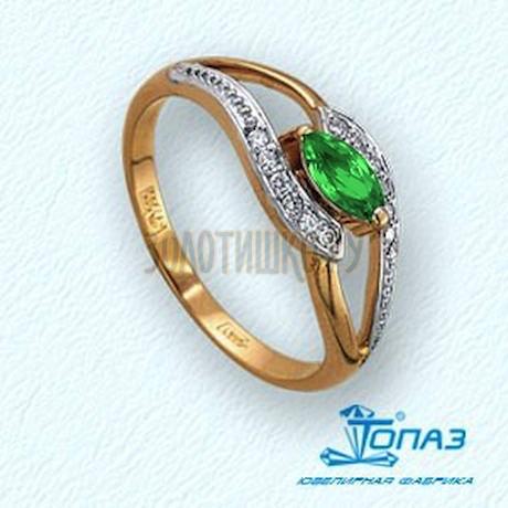 Кольцо с изумрудом и бриллиантами Т141011344_2