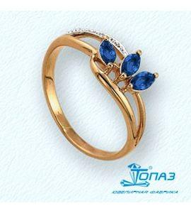 Кольцо с изумрудами и бриллиантами Т141011349