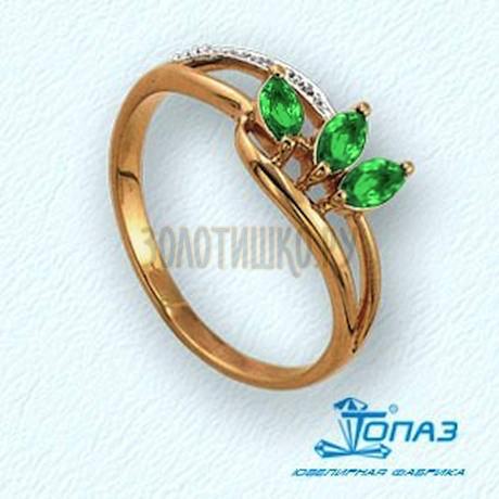 Кольцо с изумрудами и бриллиантами Т141011349_2