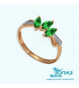 Кольцо с изумрудами и бриллиантами Т141011351_3