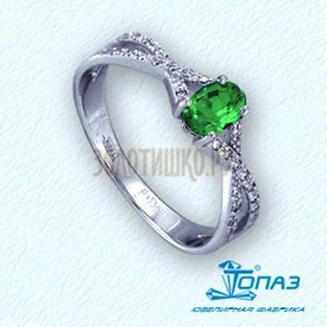 Кольцо с изумрудом и бриллиантами Т141011364_3