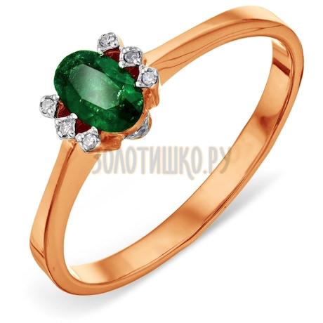Кольцо с изумрудом и бриллиантами Т141011365-1_3