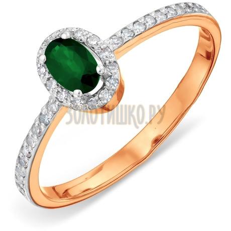 Кольцо с изумрудом и бриллиантами Т141011370_3