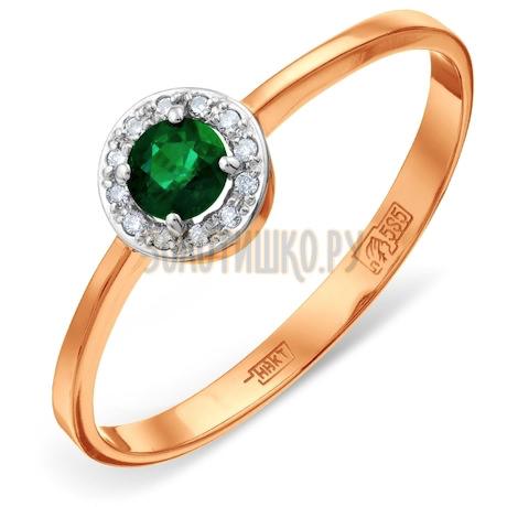 Кольцо с изумрудом и бриллиантами Т141011381