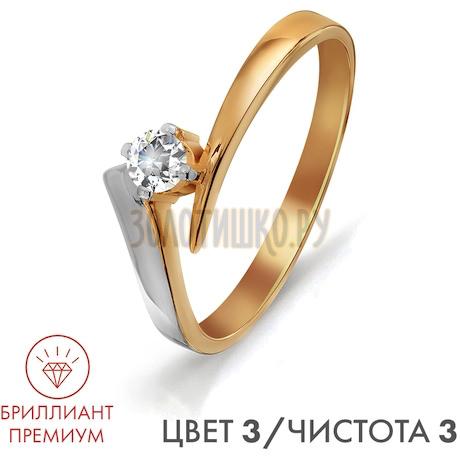 Кольцо с бриллиантом Т141011533-3