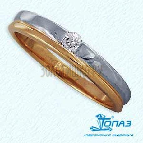 Кольцо с бриллиантом Т141011536