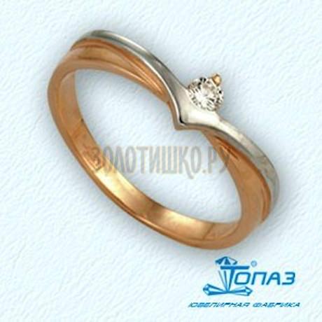 Кольцо с бриллиантом Т141011542