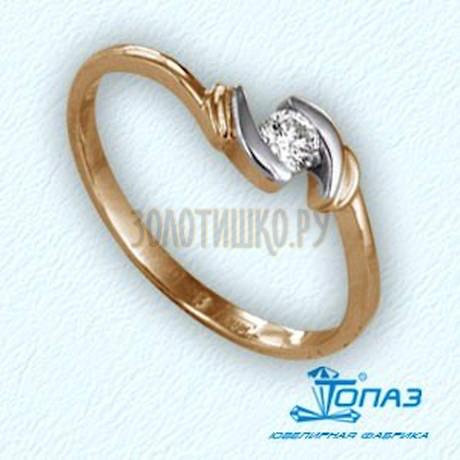 Кольцо с бриллиантом Т141011587