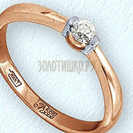 Кольцо с бриллиантом Т141011665
