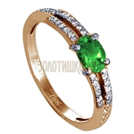 Кольцо с изумрудом и бриллиантами Т141011752_3