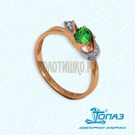 Кольцо с изумрудом и бриллиантами Т141011766_3