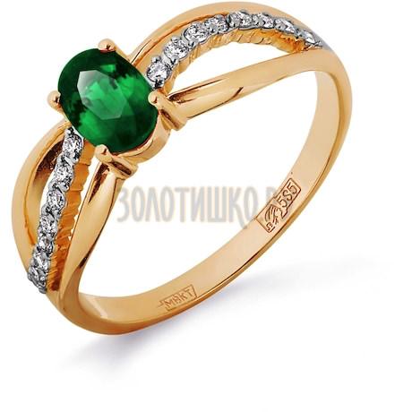 Кольцо с изумрудом и бриллиантами Т141011810_2