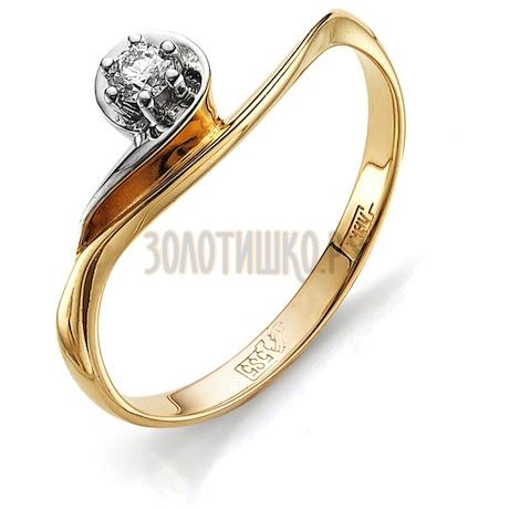 Кольцо с бриллиантом Т141011836