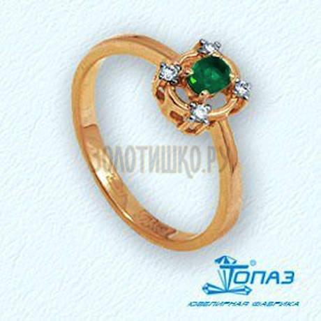 Кольцо с изумрудом и бриллиантами Т141011911_2