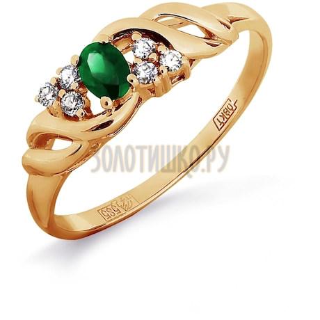 Кольцо с изумрудом и бриллиантами Т141011915