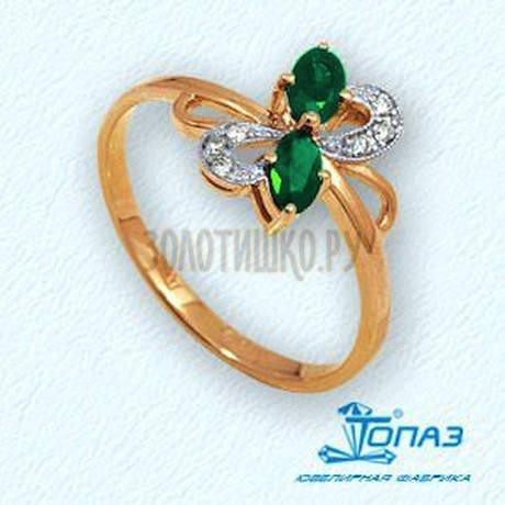 Кольцо с изумрудами и бриллиантами Т141011918_3