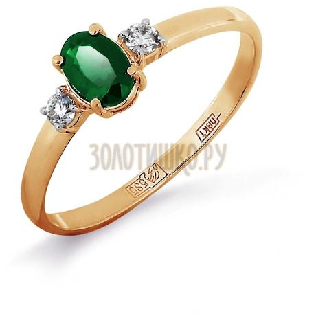 Кольцо с изумрудом и бриллиантами Т141011970_3