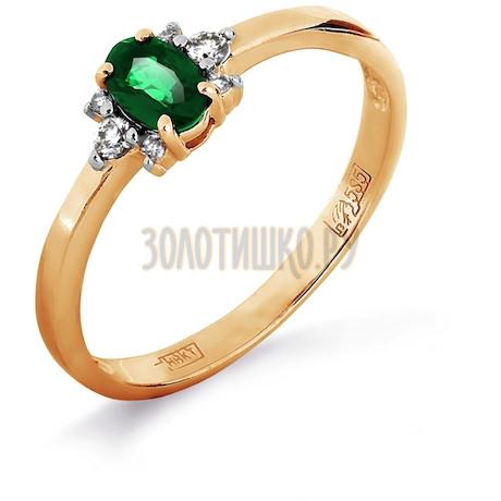 Кольцо с изумрудом и бриллиантами Т141011972_3