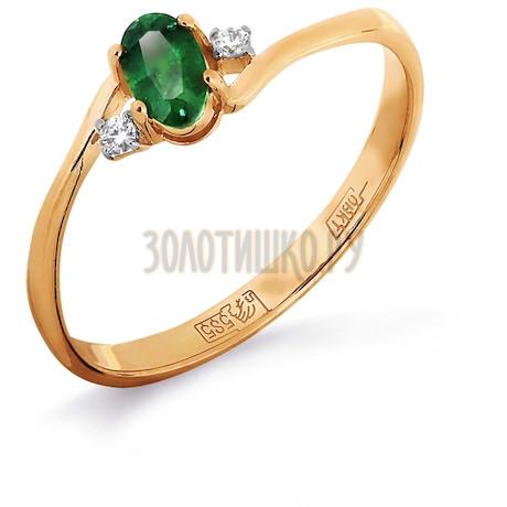 Кольцо с изумрудом и бриллиантами Т141011975_3