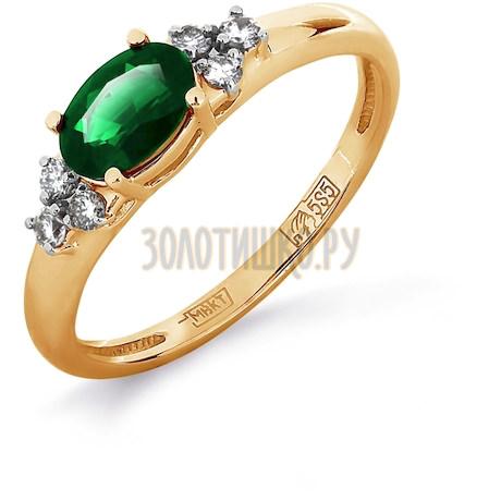 Кольцо с изумрудом и бриллиантами Т141011979