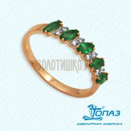 Кольцо с изумрудами и бриллиантами Т141012033-1_2