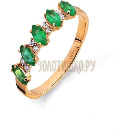 Кольцо с изумрудами и бриллиантами Т141012033_3