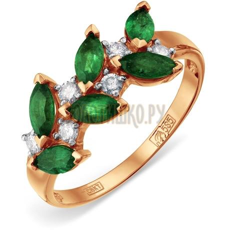 Кольцо с изумрудами и бриллиантами Т141012035_2