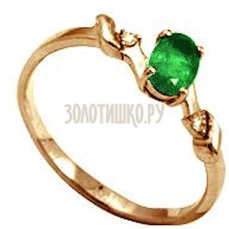 Кольцо с изумрудом и бриллиантами Т141012043_2