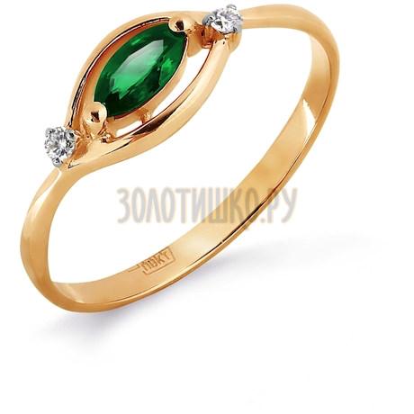 Кольцо с изумрудом и бриллиантами Т141012044_3
