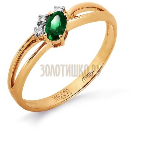 Кольцо с изумрудом и бриллиантами Т141012050_3