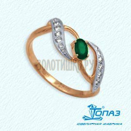 Кольцо с изумрудом и бриллиантами Т141012057_2
