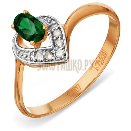 Кольцо с изумрудом и бриллиантами Т141012061