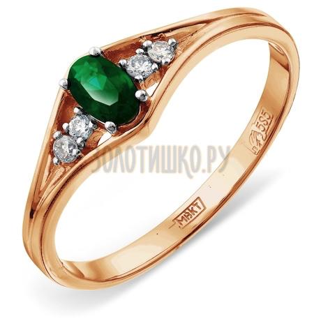 Кольцо с изумрудом и бриллиантами Т141012063_3