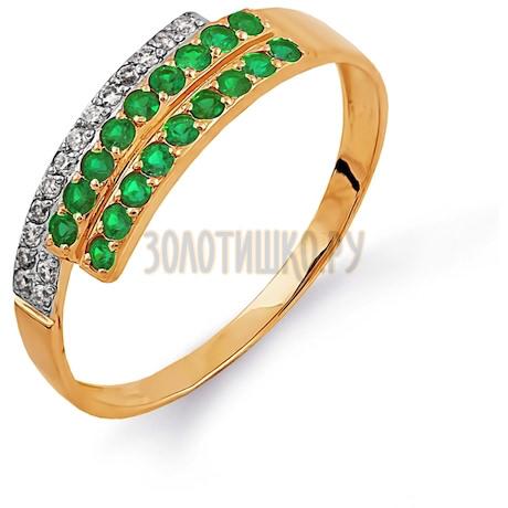 Кольцо с изумрудами и бриллиантами Т141014345_2