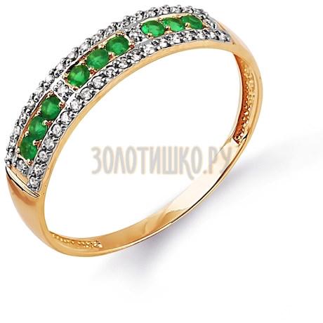 Кольцо с изумрудами и бриллиантами Т141014349_3