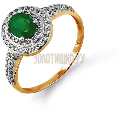 Кольцо с изумрудом и бриллиантами Т141014607_3