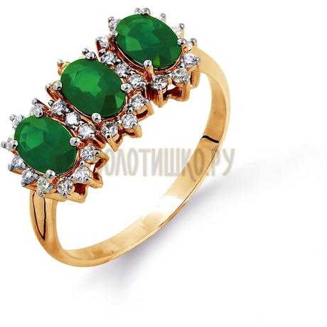 Кольцо с изумрудами и бриллиантами Т141014608_2